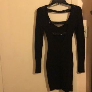 Long sleeve jet black Guess dress